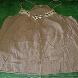 Old Navy gauze top with embroidery